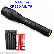 Zoomable 4000 Lumen 5 Modes CREE XML T6 LED Torch Lamp Light