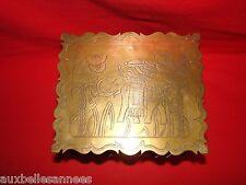 ANCIENN BOITE EN CUIVRE DÉCOR D' ELEPHANT