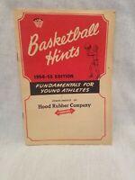 1954-55 Hood Rubber Company Basketball Hints Book Rare Vintage