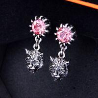 Women Elegant Fashion Earrings Stud Ear Crystal Rhinestone SilverTiger Jewelry