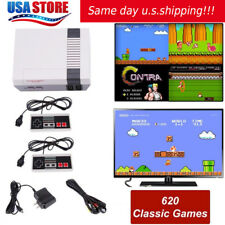 Vintage Retro TV Game Console Classic 600 Built-in Games + 2 Controllers US ship