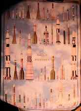 Space Missiles Poster, Large, Detailed,To Scale, 53 missiles, Many Countries
