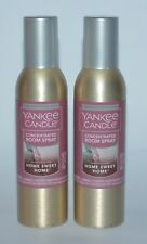 2 YANKEE CANDLE HOME SWEET HOME CONCENTRATED ROOM SPRAY PERFUME AIR FRESHENER