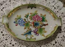 Herend Hungary Porcelain Peony Dish Ashtray