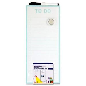 Premier Office 152x356mm Magnetic Dry Wipe Board - To Do Check List