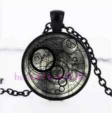 Doctor Who Time Lord Photo Cabochon Glass Black Chain Pendant  Necklace