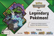 Available now legendary pokemon code july - 2018 for tornadus or thundurus.