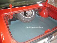 1969-1970 Buick LeSabre HT RUBBER TRUNK MAT Aqua Houndstooth Patteren 69 70