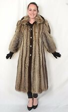 US367 Raccoon Racoon fur coat Jacket Full Length no mink Waschbär Mantel ca. M