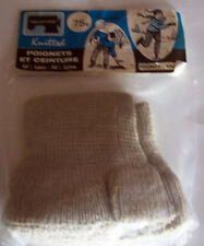 VINTAGE TAILORFORM ADULT GRAY KNITTED CUFFS - IN ORIGINAL PACKAGE