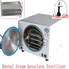18L Medical Dental Steam Autoclave Sterilizer Lab Sterilizer Equipment +Curing