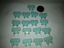 17 piece lot - Vintage Fuse Holder - Chassis Socket - Teal Color - NOS - VGC