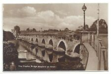 Clopton Bridge Stratford on Avon Postcard 1930s