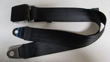 Vintage Black Lift Lid Universal Non Retractable Black Lap Seat Belt : 74""