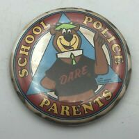"1988 YOGI BEAR School Police Parents D.A.R.E 2-1/4"" Button Pinback Vtg   Q8"