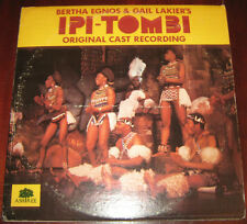 "Ipi Tombi dLp "" ORIGINAL CAST RECORDING "" Ashtree 1975"
