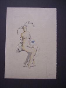 ACQUERELLO EROTICO, nudo francese primi '900, erotica 5