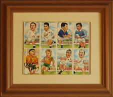 Rugby World Cup Legends 1999 Signed Card Group - 8 Cards Framed + COA