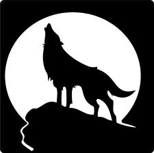 HOWLING WOLF AND MOON CAR DECAL STICKER