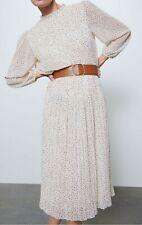 Zara Polka Dot Printed Dress Size XS New