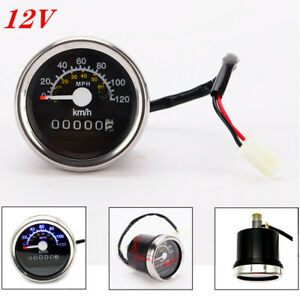 12V Universal Motorcycle Digital LED Odometer Speedometer Tachometer Speed Gauge