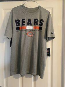 Chicago Bears NFL  Nike Dri Fit T Shirt Medium