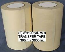 "2 - 8"" rolls APPLICATION TRANSFER Paper TAPE 300' for Vinyl Cutter PLOTTER NEW"