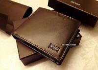 NEW HUGO BOSS 'ASOLO' 50250331 BI-FOLD BLACK LEATHER COIN WALLET GIFT BOXED