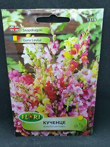 Snapdragon Antirrhinum majus nanum mix colours 1480 seeds English cottage garden