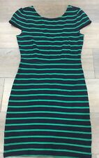 Ladies size S Blue & Green Striped FOREVER 21 DRESS - Excellent Con