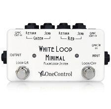One Control Minimal Series White Loop Two Loop Line Selector Guitar Effect Pedal