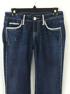 Claudio Milano Women's Jeans Swarovski Crystal Skinny Size 26 Retail (468)