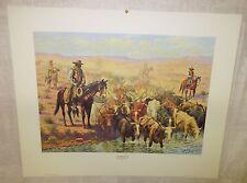 "1958 Cowboy Print "" Chisholm Trail"" By Robert Lindneux"