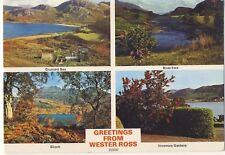 Old Postcard (1981) - Greetings from Wester Ross (Various Views) - Posted M139