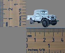 Toyota FJ79 - HJ79 White Landcruiser Ute, Lapel Pin / Badge