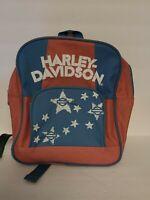 Vtg Harley-Davidson Motorcycles Child's Backpack, Nylon Red/pink White Blue