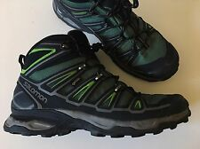 Salomon Men's X Ultra Mid 2 GTX Waterproof Hiking Boots Green/Aluminum -Sz 11