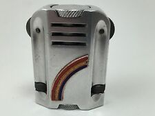 Rare Vintage Double Flint Rainbow Aluminum Lighter