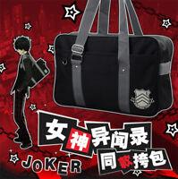 New Anime ペルソナ Persona5 Japanese JK Uniform Handbag Canvas Student School Bag