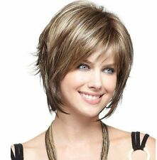 Hot Selling Bob Hair Ladies Natural Short Straight Ash Blonde Hair Women's Wigs