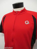 QUEST CYCLING FULL ZIP JERSEY sz L mens red SS #5025