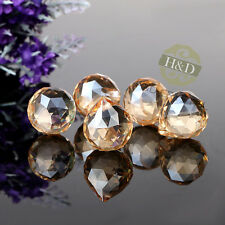 10PCS Champagne Glass Crystal Ball Prism Chandelier Parts Hanging Drop Pendant