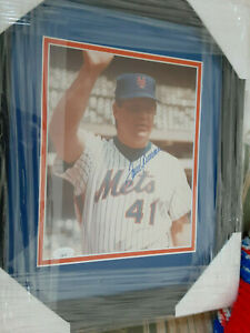 NY Mets Tom Seaver  autographed 8x10 color photo in 16x13 framed JSA Certified