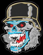 Skull Helmet XL  Parche bordado iron-on patch