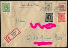 Finsterwalde 9, 10 auf R-Brief von Neustadt nach Nordheim, Mischfrankatur #m675