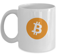 Cryptocurrency Coffee Mug - Bitcoin symbol - Satoshi BTC HODL - Blockchain gift