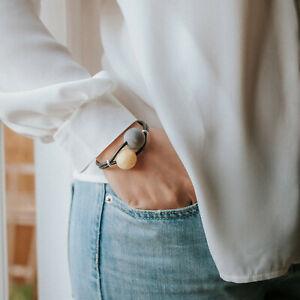 Baltic Amber Bracelet Black Amber Yellow Beaded Bracelet Woman Leather GIft