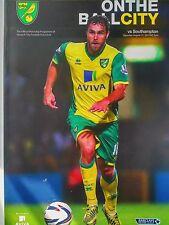 Norwich City v Southampton Barclays Premier League 31/8/2013 Perfecto Estado