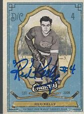 Detroit Red Wings RED KELLY Signed Champs Card