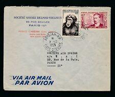 IVORY COAST DELMAS SHIPPING ENVELOPE 1955 AIRMAIL...ABIDJAN RP POSTMARK